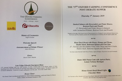 Oxford Farming Conference Dinner