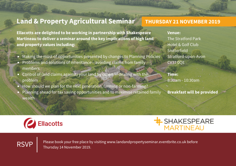Land and property agricultural seminar