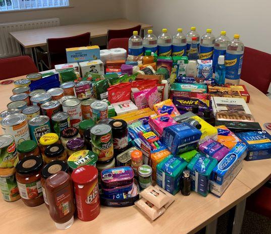 Ellacotts staff donate to Banbury Foodbank for Christmas