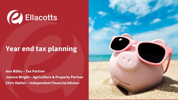 Year end tax planning webinar